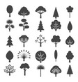 tree icons isolated on white background vector image
