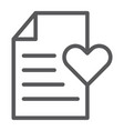 Wish list line icon paper and document checklist