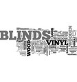 wood or vinyl blinds text word cloud concept vector image vector image