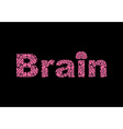 Brain Text of texture brains vector image
