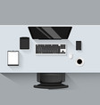 set of flat design modern business office vector image