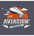 Aviation label t-shirt vector image
