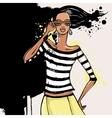 Beautiful Fashion woman vector image