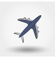Airplane icon Aircraft icon vector image