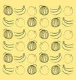 Watermelon banana and peach vector image