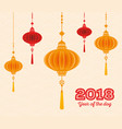 2018 chinese new year year of the dog design vector image