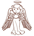 A simple sketch of an angel vector image vector image
