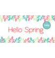 banner hello spring sale vector image