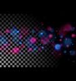 blue purple luminous bokeh lights particles vector image