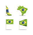 brazil icon set vector image