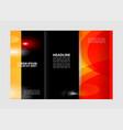business tri-fold brochure catalog design vector image vector image