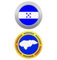 button as a symbol HONDURAS vector image