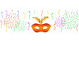 carnival background with celebration decorations vector image