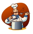 cartoon cook character vector image