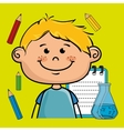 character cartoon child notebook vector image vector image