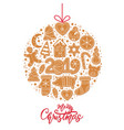 christmas gingerbread cookies card merry vector image vector image