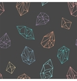 Crystals - seamless hand drawn pattern vector image vector image