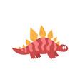 cute cartoon dinosaur prehistoric dino character vector image vector image