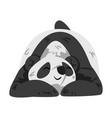 cute sleeping panda bear funny wild animal vector image vector image
