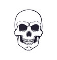 doodle human skull with a terrible smile vector image vector image