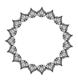 elegant frame circle decoration isolated vector image vector image