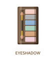 eyeshadow palette make up background cosmetic vector image vector image