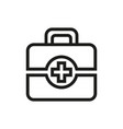 first aid icon on white background vector image vector image