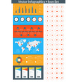 Flat style infographics and design elements with vector image vector image
