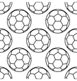Football or soccer balls outlines seamless pattern vector image vector image