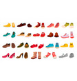 footwear set stylish shoes for man and vector image