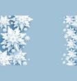 frozen white snow card vector image
