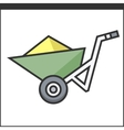 Garden wheelbarrow icon vector image vector image