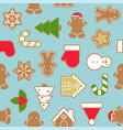 ginger bread cookie in various shape vector image vector image