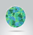 Green polygon ball design background vector image vector image