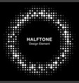 halftone circle frame with abstract random dots vector image vector image