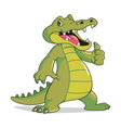 Happy Crocodile vector image vector image