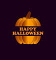 happy halloween october 31st holiday greeting vector image