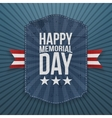 Happy Memorial Day realistic Poster and Ribbon vector image