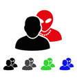 human alien contacts flat icon vector image