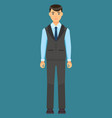 icon businessman in coat vest and trousers vector image vector image