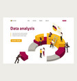 isometric collecting analyzing data people collec
