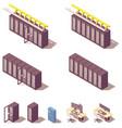 isometric server equipment vector image