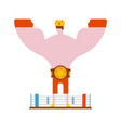 king of ring boxer winner in crown and belt vector image