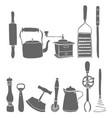 kitchen tool set vector image vector image