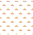 Label round premium quality pattern cartoon style vector image vector image