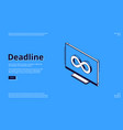 landing page deadline with infinity icon vector image