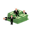 lucky businessman and money business consultant vector image vector image