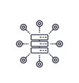 mainframe server hosting service icon on white vector image vector image