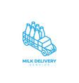milk delivery service logo vector image