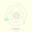Modern logotype icon laboratory chemistry vector image vector image